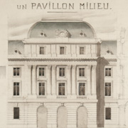 Gc set of 10 architectural drawings in the beaux arts for Architectural drawings for sale