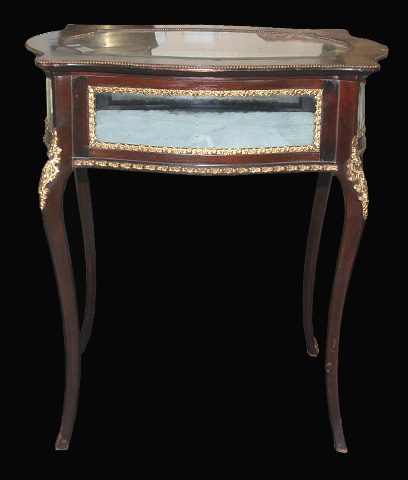 French vitrine table for sale classifieds for Table vitrine