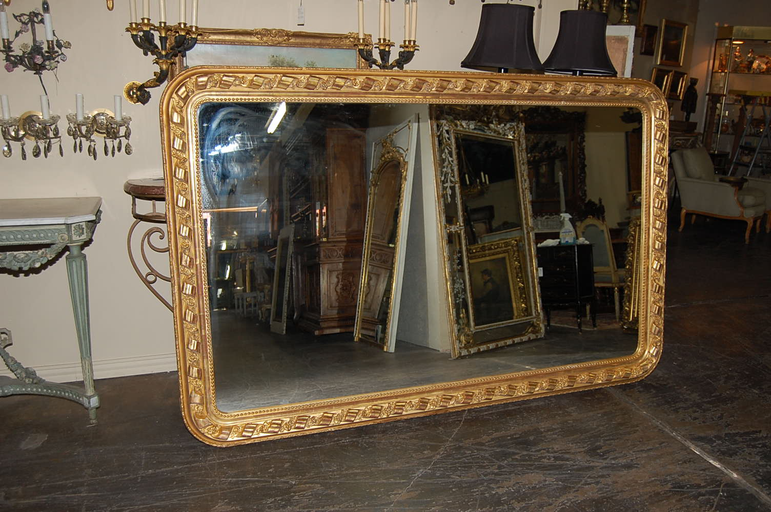 Large french horizontal mirror for sale for Big mirrors for sale