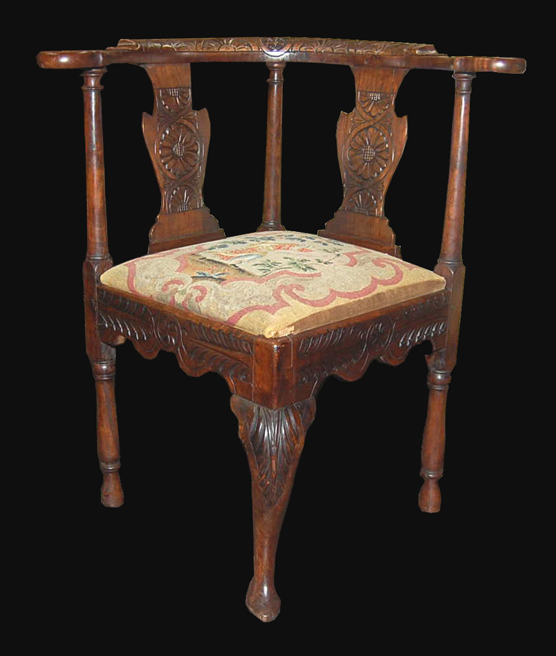 Century Furniture Sale: 18th Century English Corner Chair For Sale