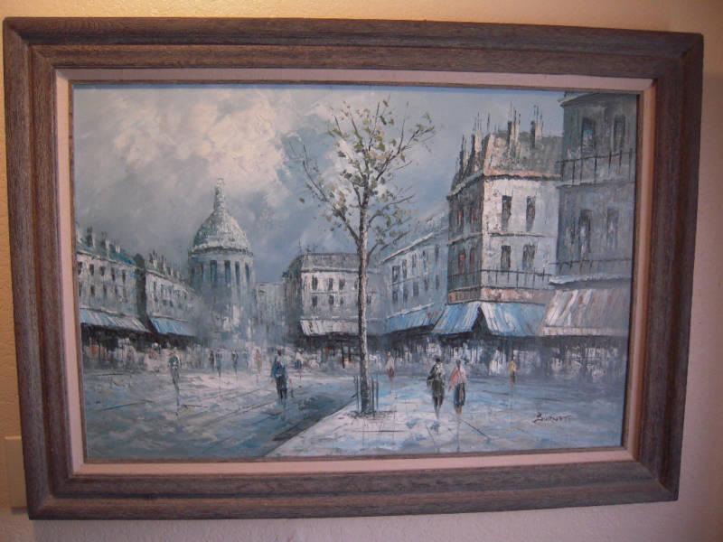 Oil Painting Signed Burnett