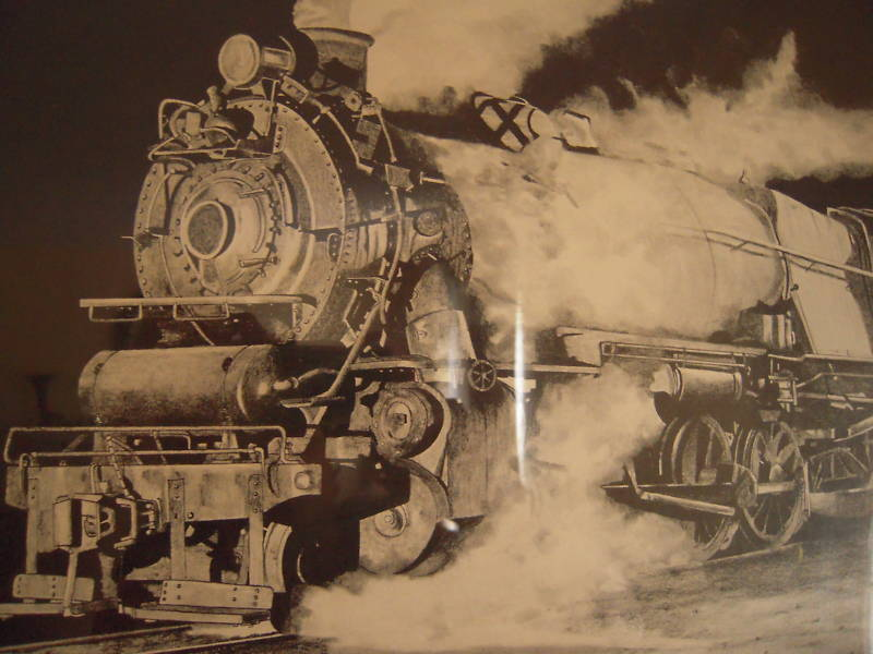 W C  Gilpin Steam Locomotive Litho Pencil Sgnd 32/250 For