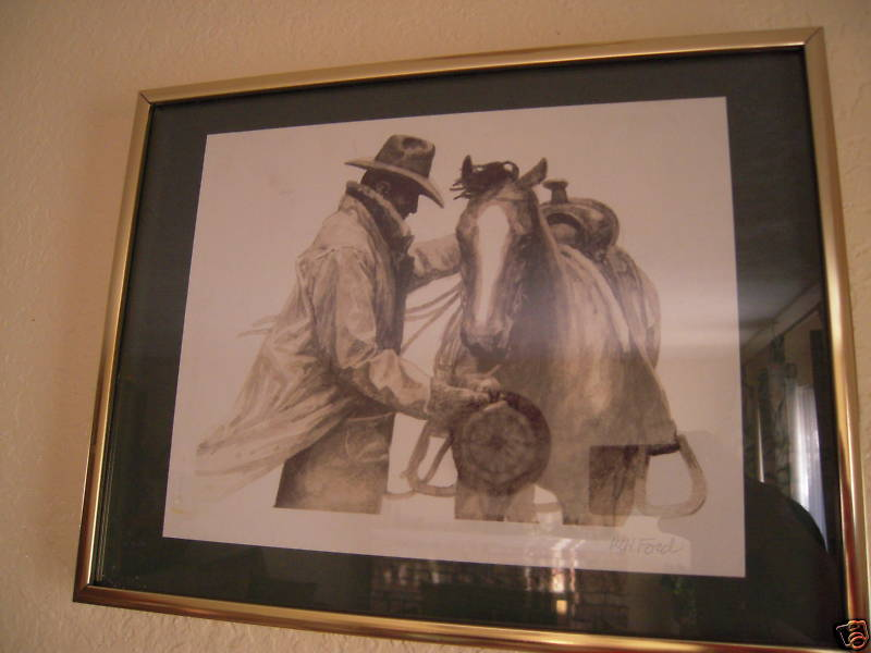 Marlboro Partners by W H Ford Signed Watercolor Print For