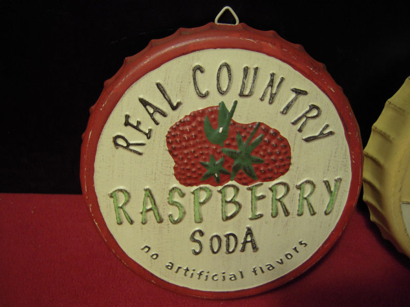 Real country soda lemon lime raspberry mtl wall caps for for Soda caps for sale