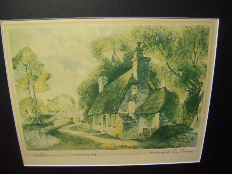 Vintage Print Autumn In Normandy Armand La Verne 1935 For