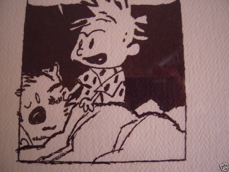 Calvin and Hobbes Comic Art Ink Print on Art Paper For Sale ...
