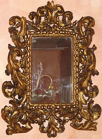 Florentine baroque carved giltwood mirror for sale for Baroque mirror
