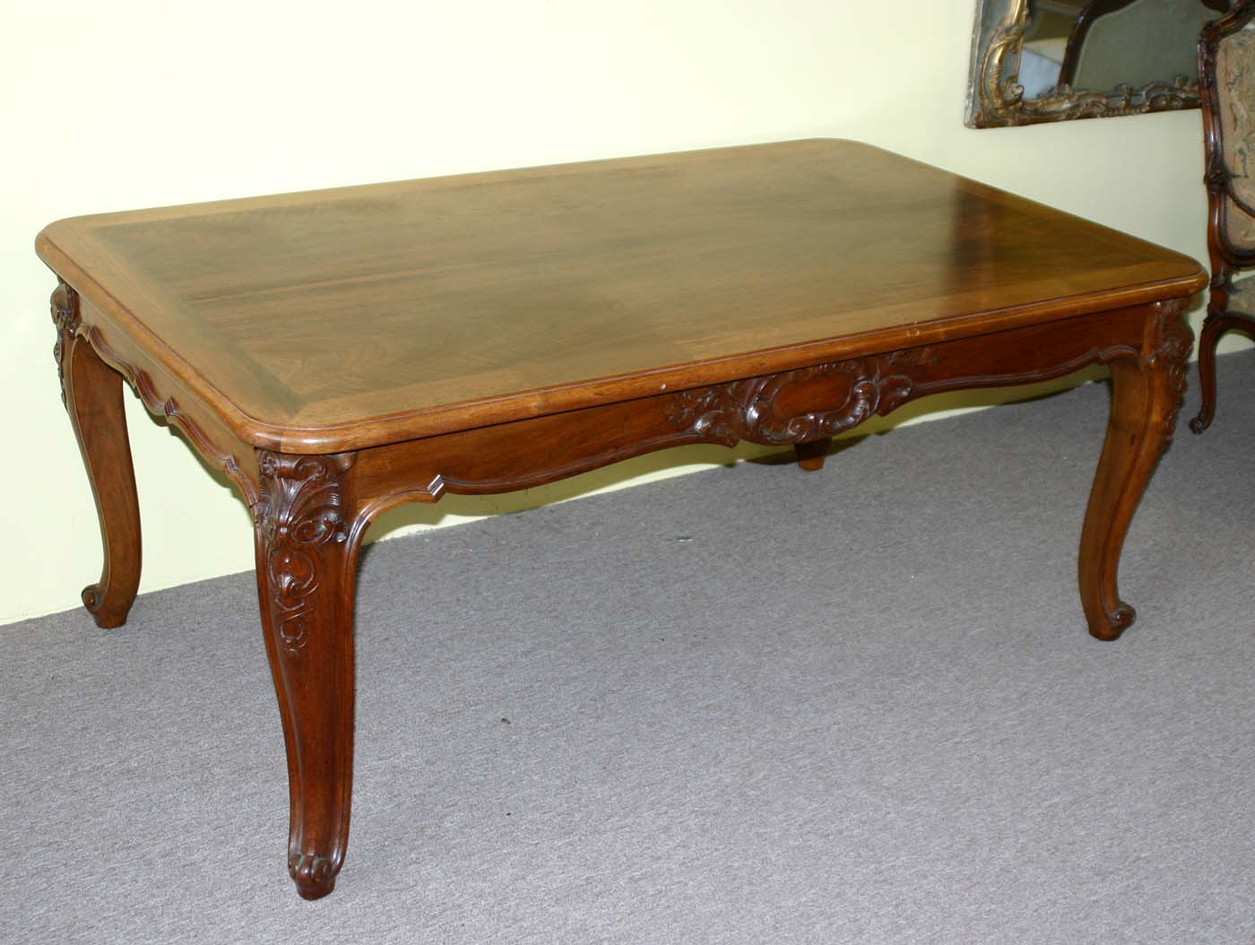 French louis xv style extension dining table for sale classifieds - Antique french dining tables ...