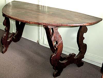 Italian, Baroque Demi Lune Console Table For Sale | Antiques.com |  Classifieds