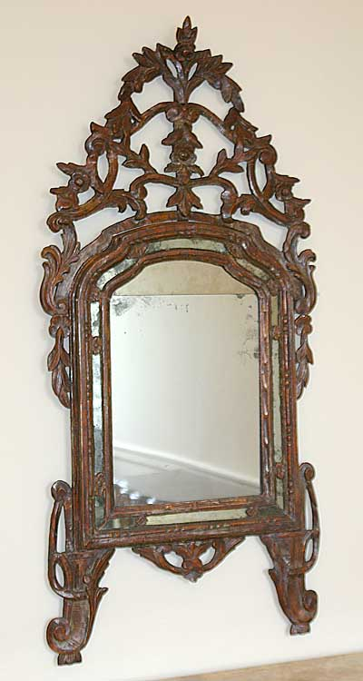 Italian neoclassical period silver leaf mirror for sale for Silver mirrors for sale