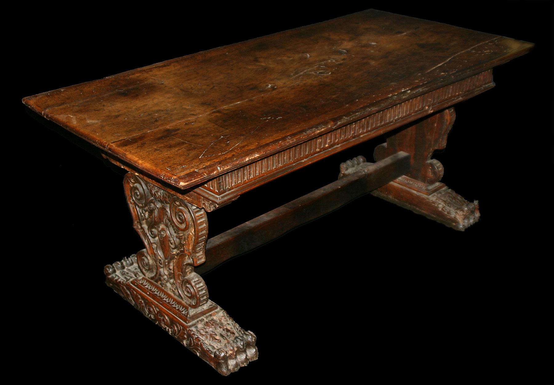 Italian Renaissance Period Walnut Refectory Table For
