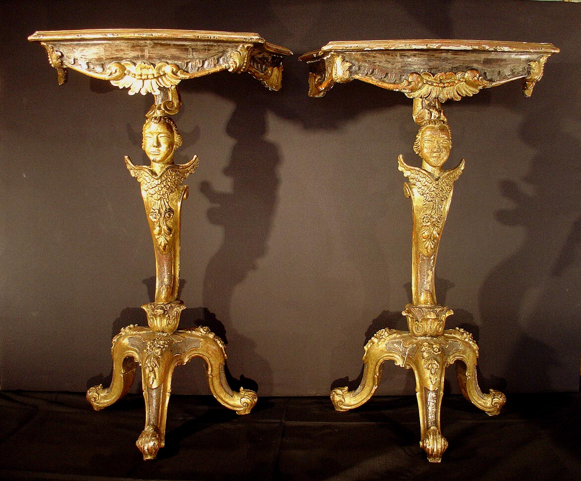 Pair of very fine venetian baroque period carved for Baroque period pictures