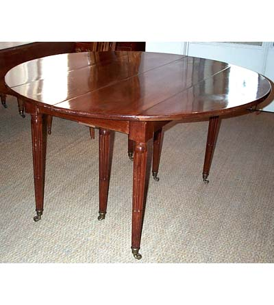 Rare French Neoclassical Extension Dining Table For