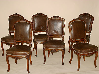 set of six louis xv style chaises for sale antiques classifieds