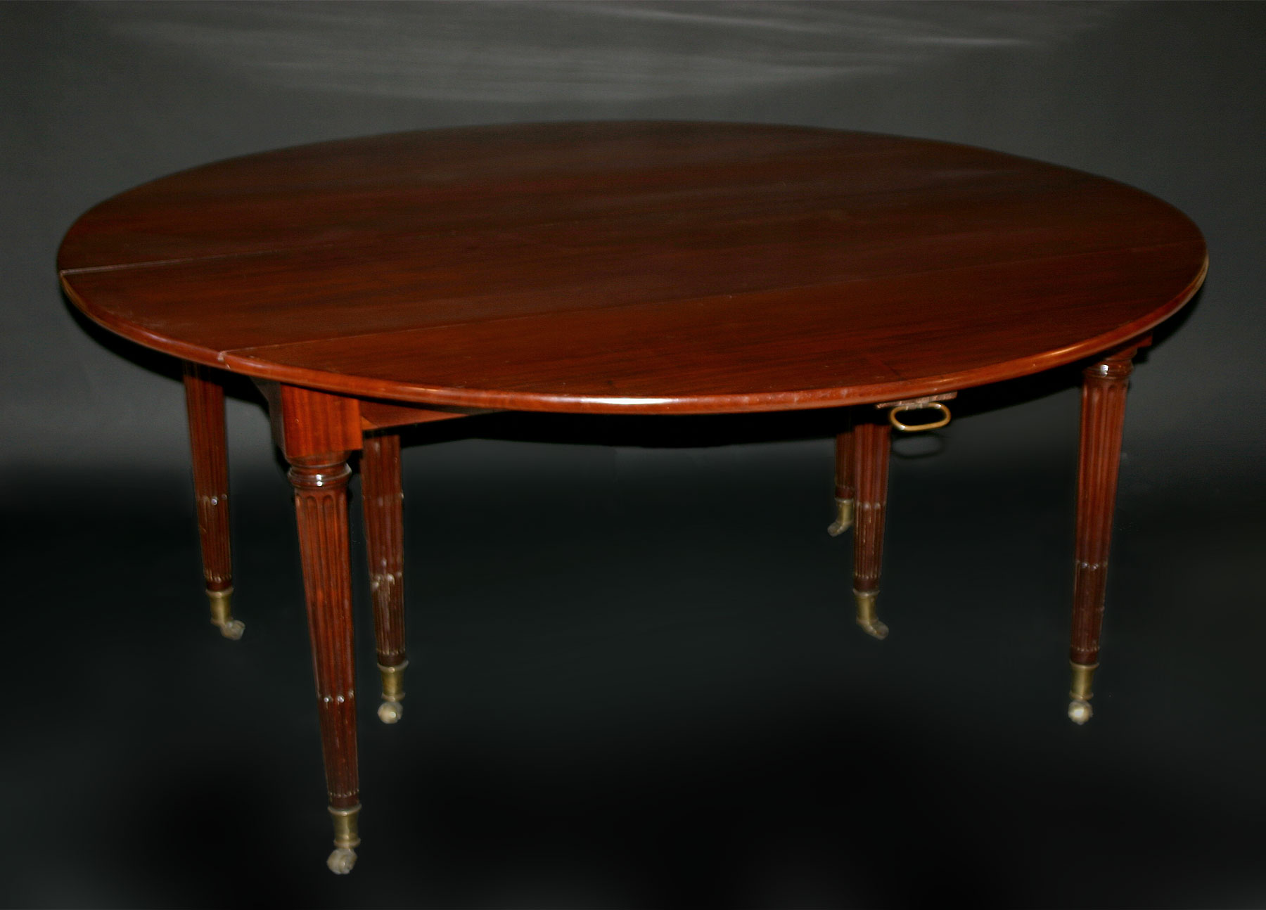 very fine parisian neoclassical period drop leaf banquet table for sale. Black Bedroom Furniture Sets. Home Design Ideas