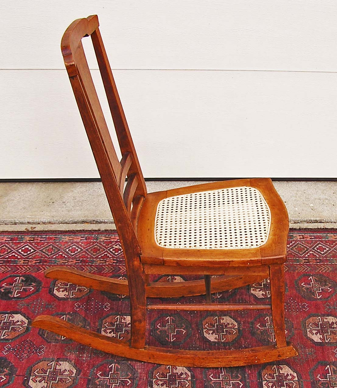 T Back Bird S Eye Maple Rocking Chair C 1900 1915 For