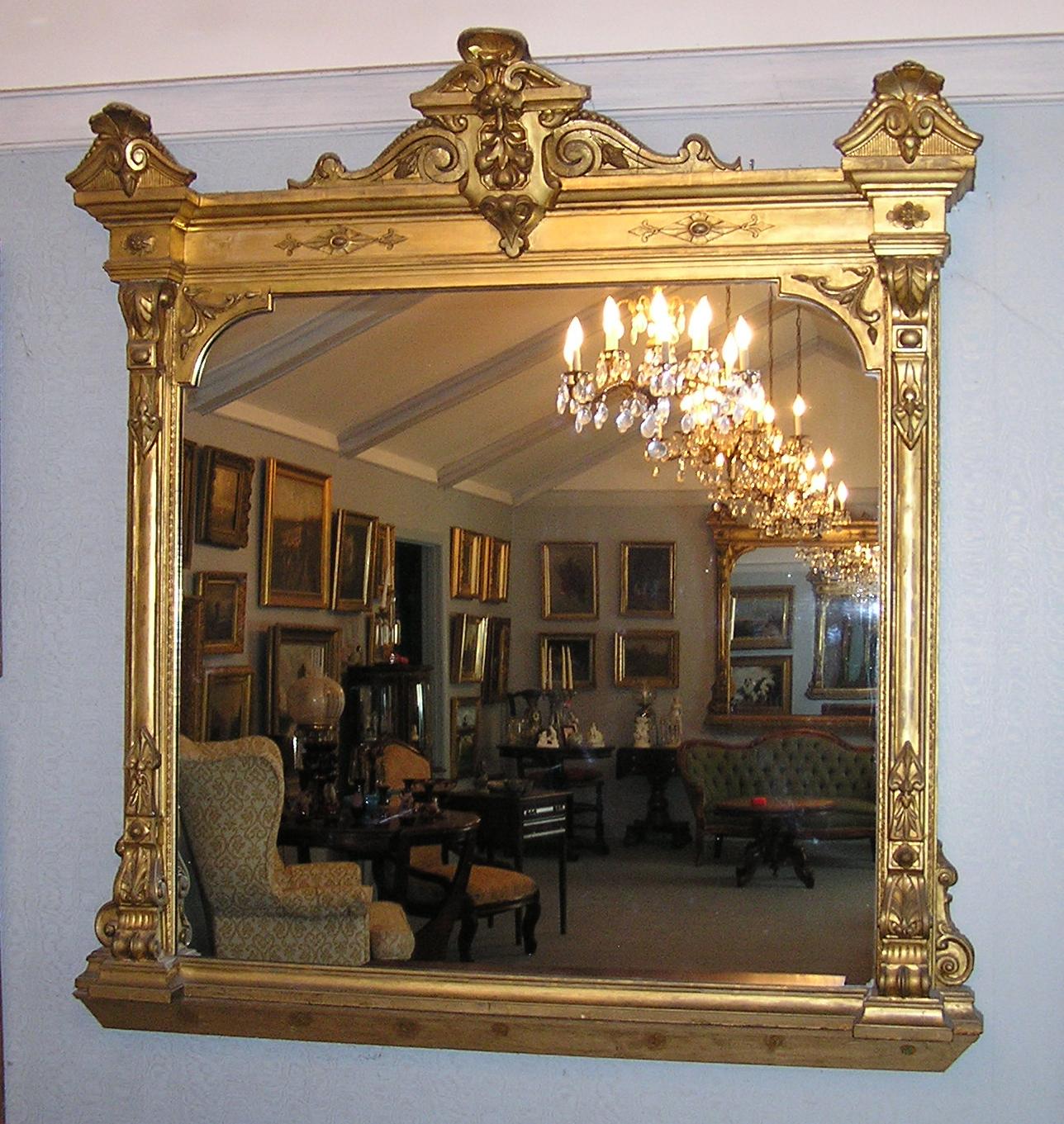 An impressive pair of renaissance louis xvi revival gilt for Antique mirror