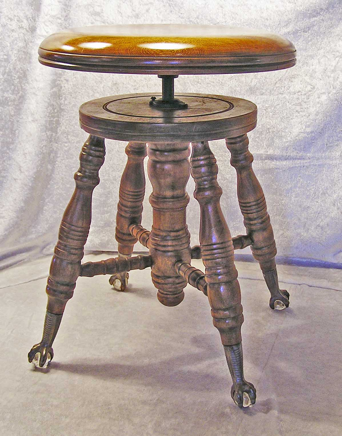 Charles Parker Co Walnut Piano Stool C 1877 1900 For
