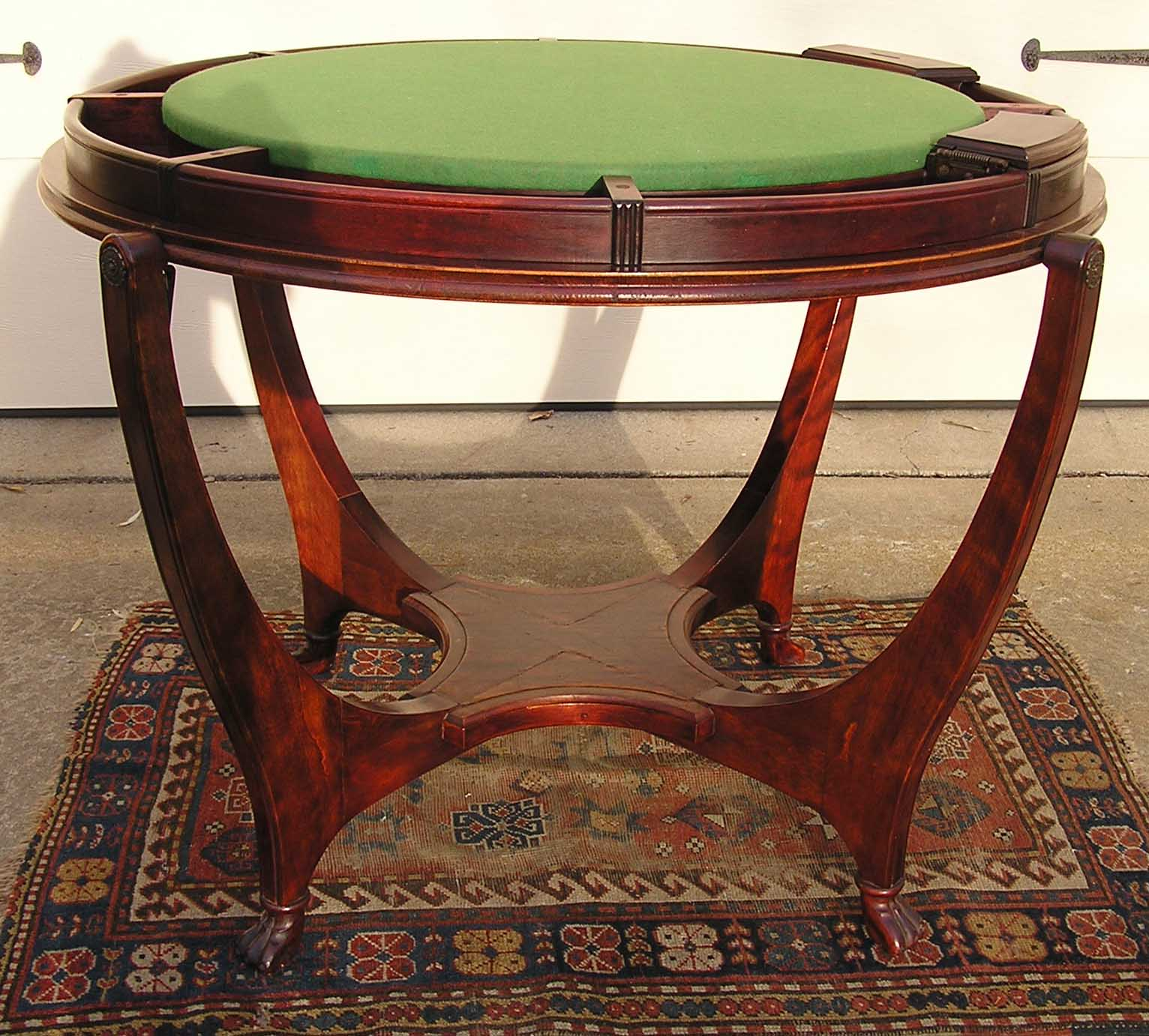 An Impressive George Hunzinger Mahogany Flip Top Yacht Game Poker Table C.  1890u0027s.   For Sale