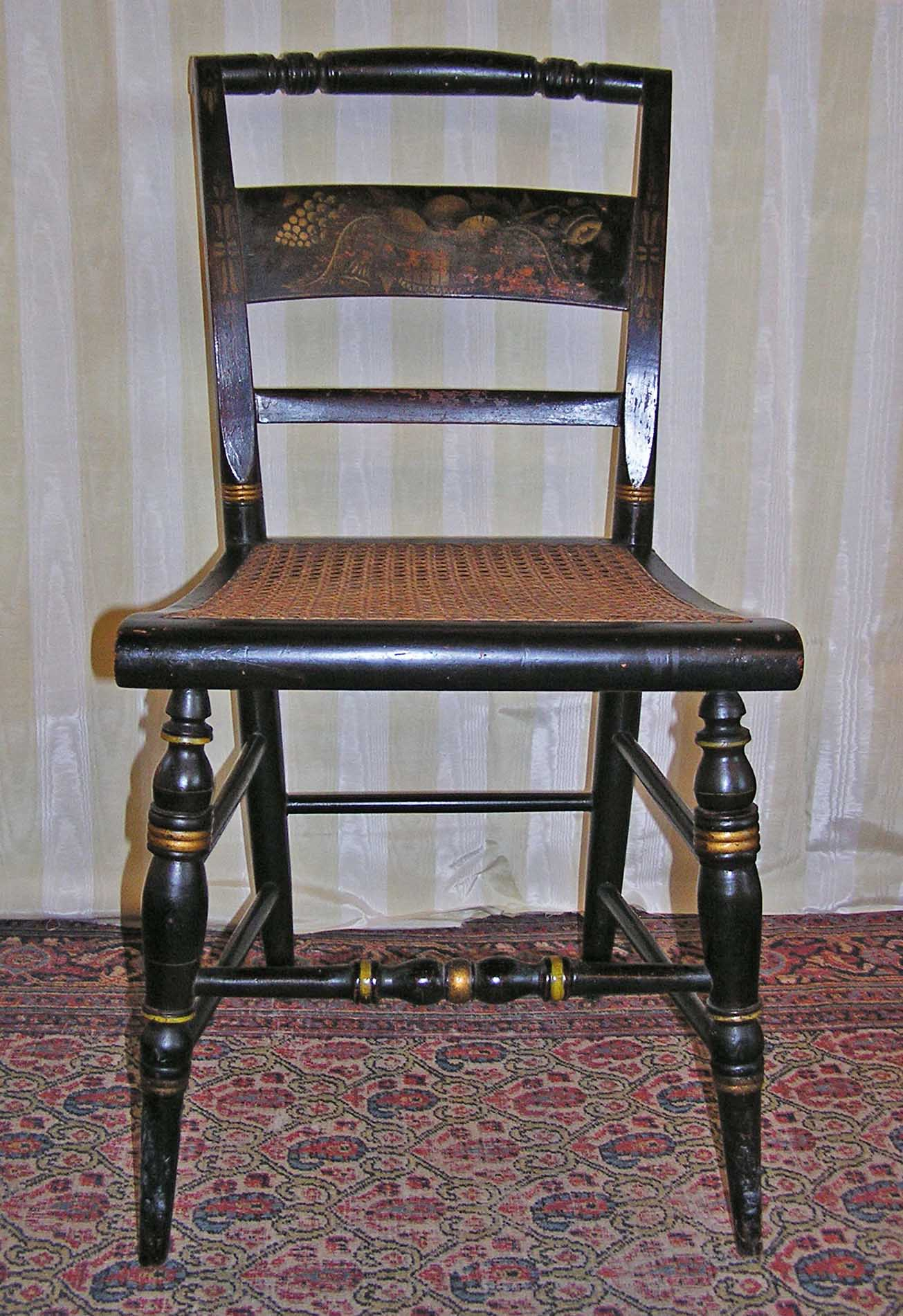 Superieur An American Empire Signed Hitchcock Alford Cane Seated Chair C. 1832 1843    For Sale