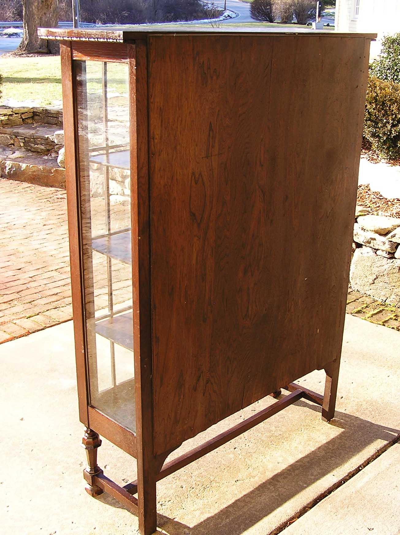 An Arts & Crafts Era Mission Oak China Cabinet C. 1900 For Sale ...