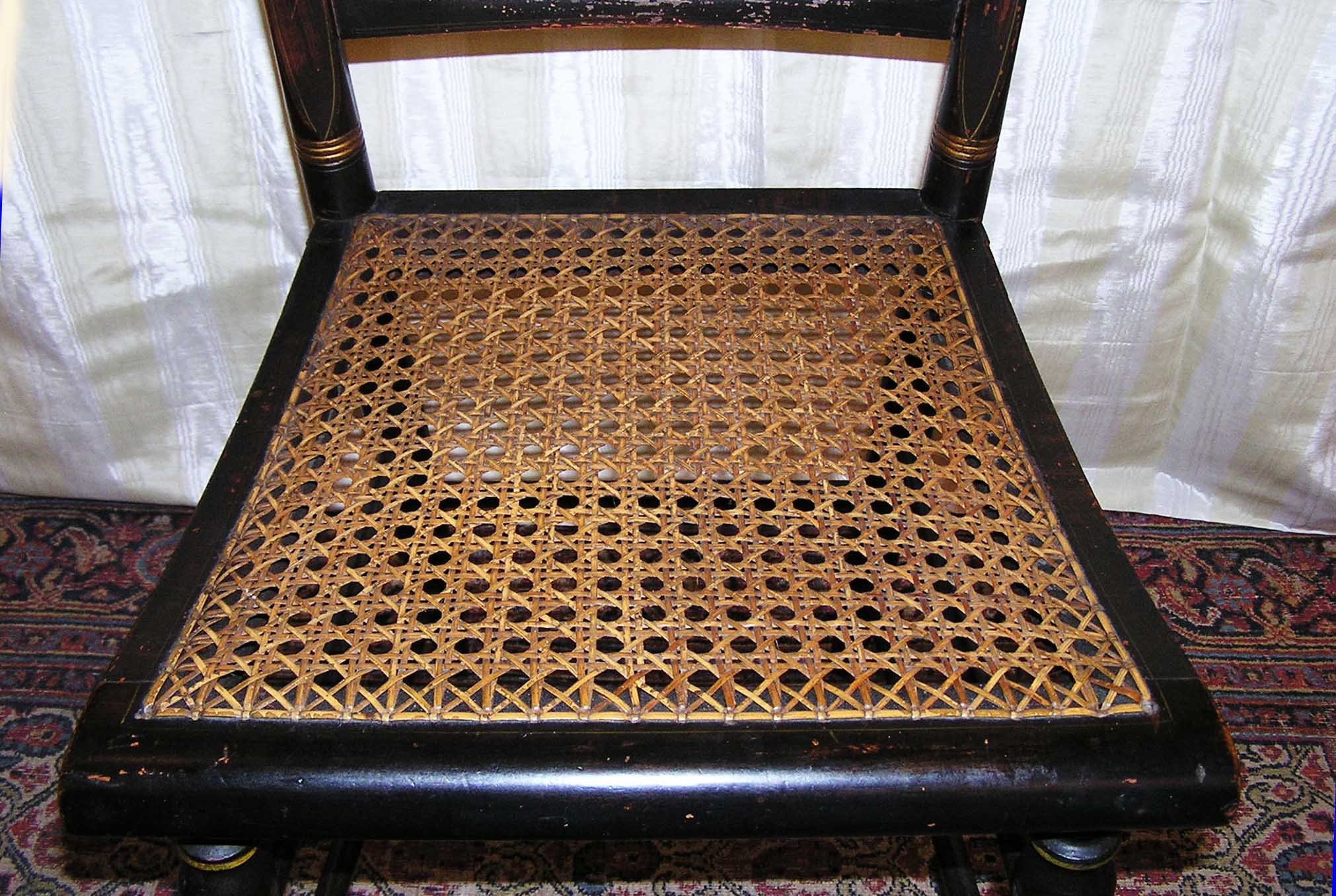 An American Empire Signed Hitchcock Alford Cane Seated Chair C. 1832 1843    For Sale