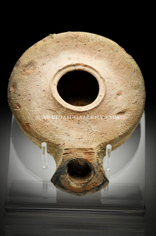 Biblical Ancient Roman Herodian Clay Oil Lamp 30 Ad For