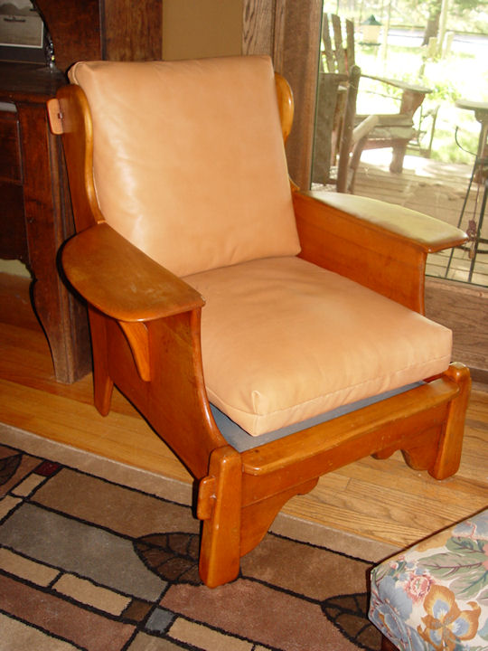rare club chair with paddle arms