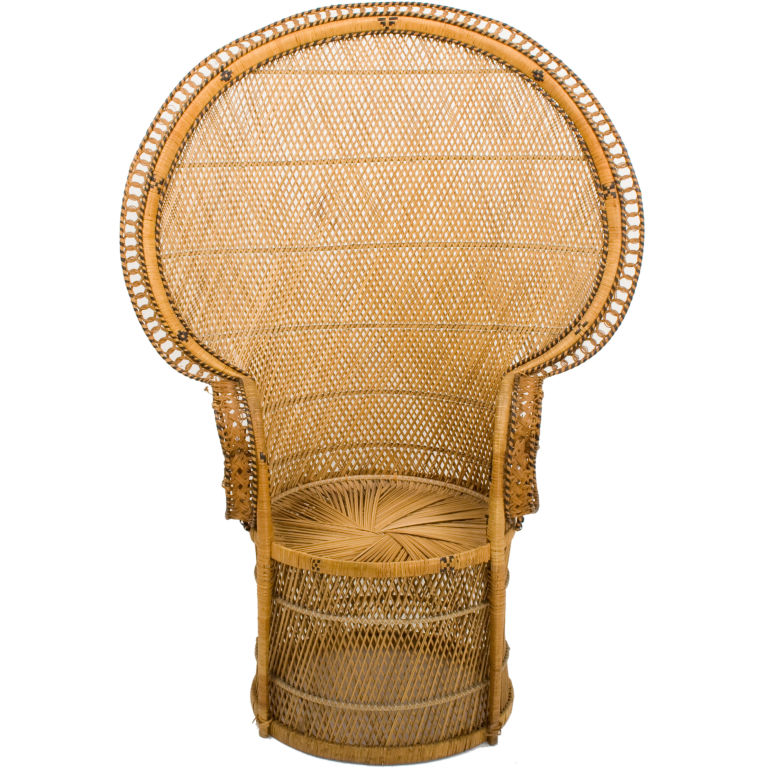 Rattan Peacock Chair - For Sale