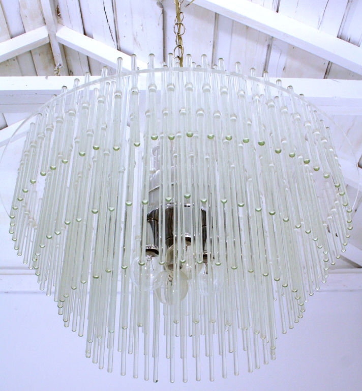 Three tier glass rod chandelier for sale antiques classifieds three tier glass rod chandelier for sale audiocablefo