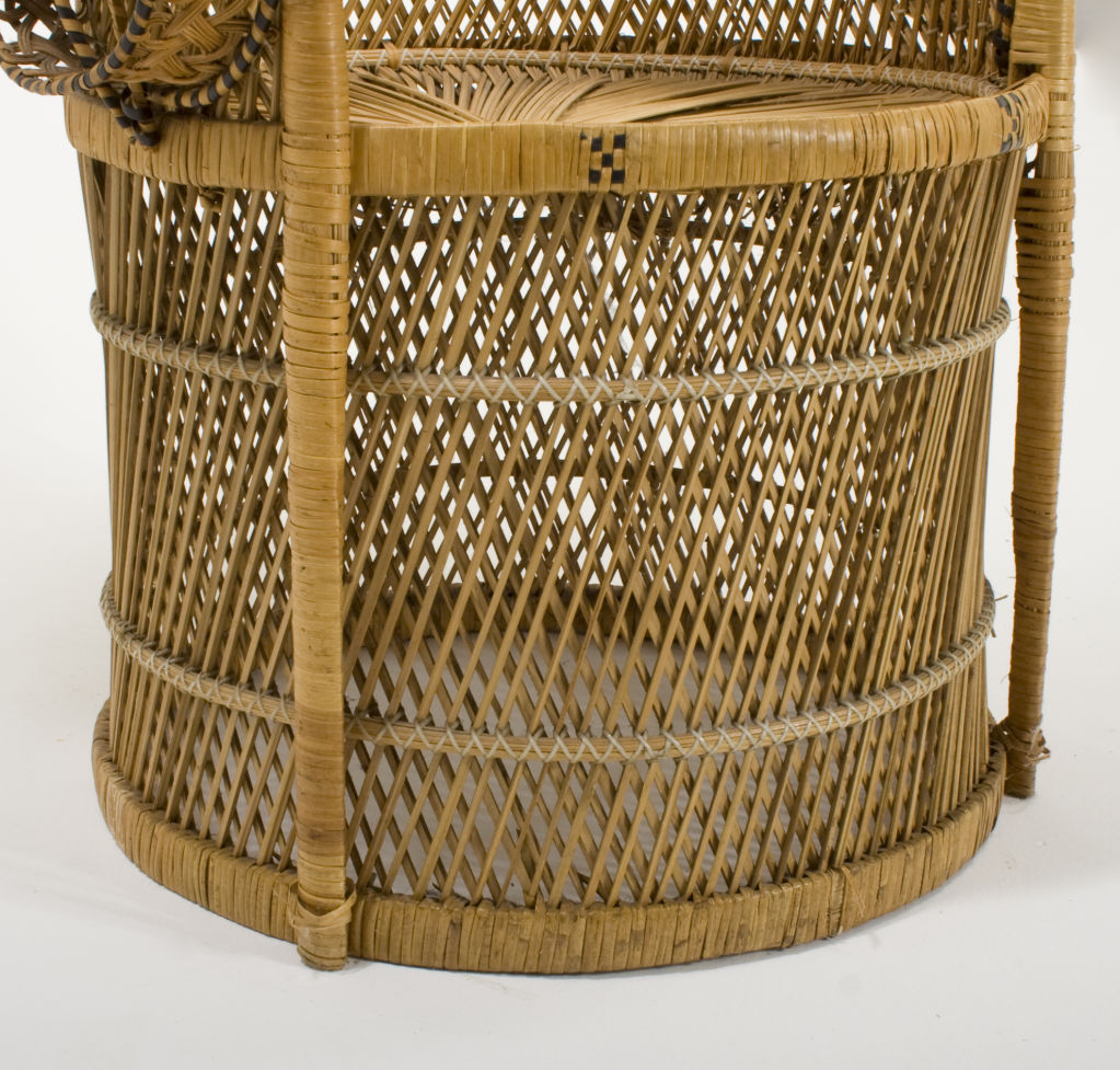 Rattan Peacock Chair For Sale Antiques