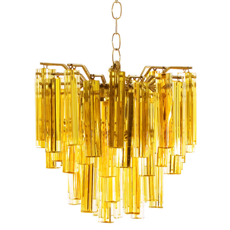 Amber Glass Murano Chandelier - For Sale - Amber Glass Murano Chandelier For Sale Antiques.com Classifieds