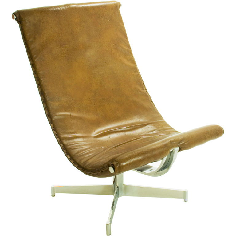 italian leather sling chair for sale