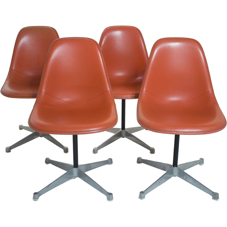 Set Of Four Charles Eames For Herman Miller Shell Dining Chairs For Sale An