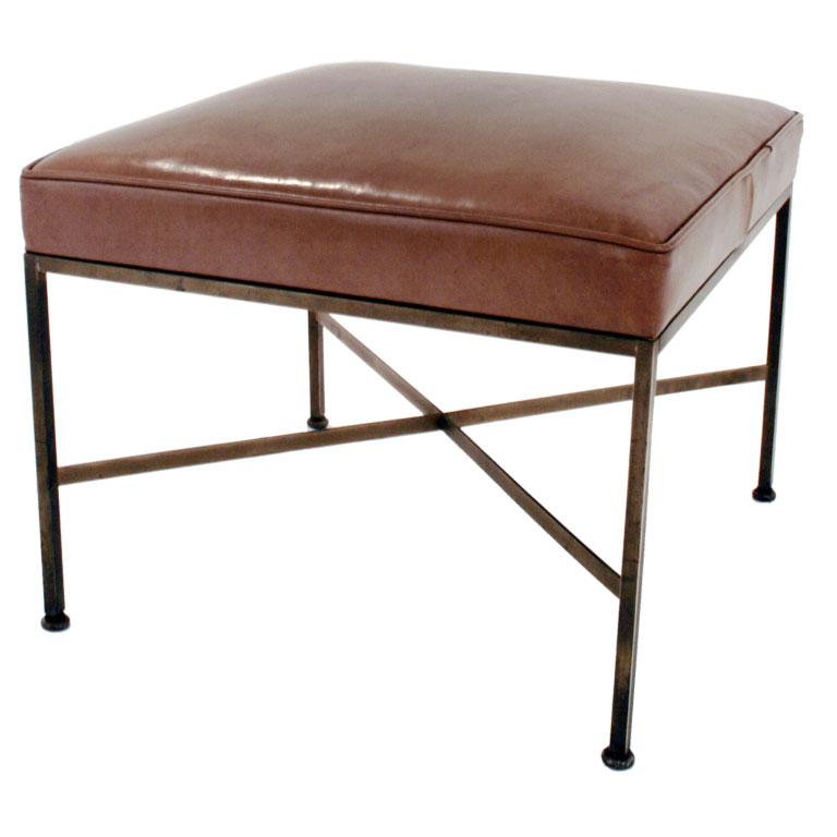 09a1e49c8bfd Paul McCobb for Calvin Leather Ottoman - For Sale