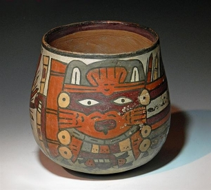 Very Fine Nazca Pottery Jar Underworld Lord Item Number ...