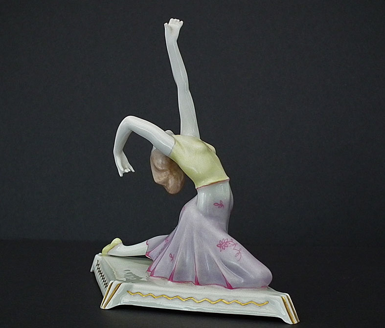 Art Deco German Porcelain Figurine Dancer Tänzerin Mänade