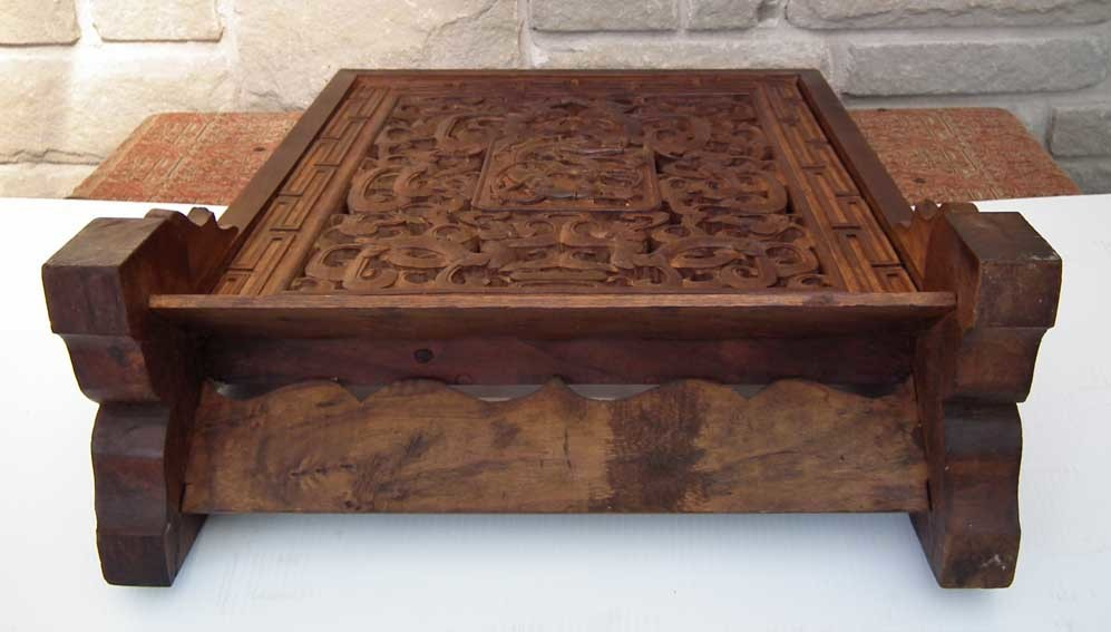 Sold antique chinese qing dynasty carved huanghuali wood for Antique chinese tables for sale