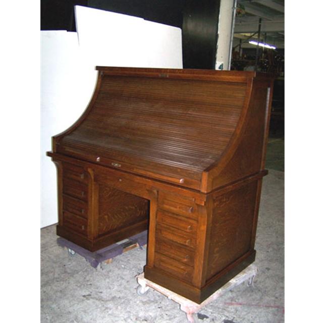 antique 19th c american oak rolltop railroad desk for sale classifieds. Black Bedroom Furniture Sets. Home Design Ideas