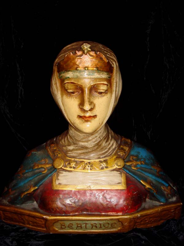 Dante/'s Lover at Gothic Rose Antiques Antique Statue Bust of Beatrice
