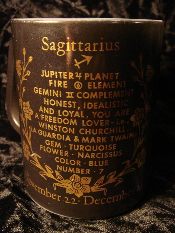 Retro Zodiac Fire King Coffee Mug For Sale | Antiques com | Classifieds