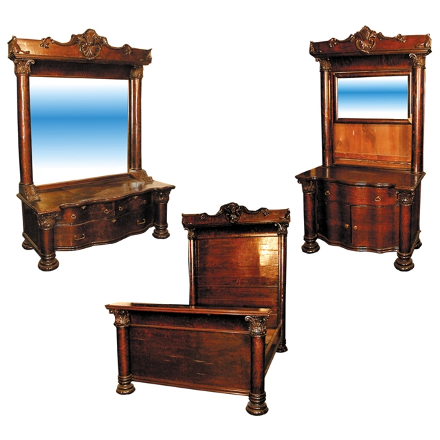 Exceptional antique american oak victorian bedroom suite for sale classifieds for Victorian bedroom furniture for sale