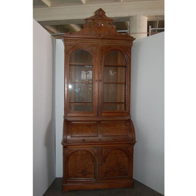 Elegant Antique Walnut Secretary
