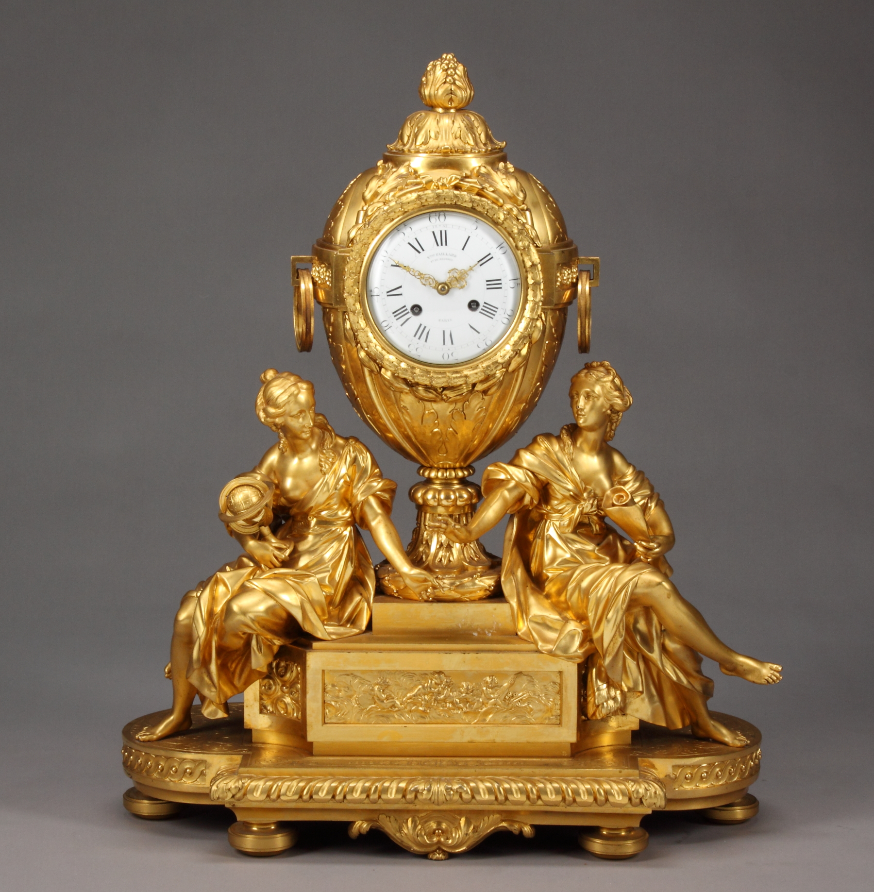A 19th C French Ormolu Bronze Clock By Victor Paillard For