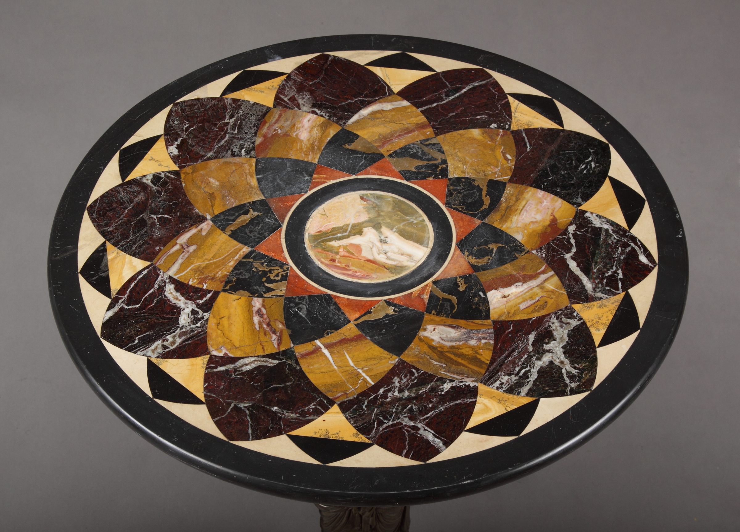 A Late 19th C French Bronze Amp Pietra Dura Table Top For