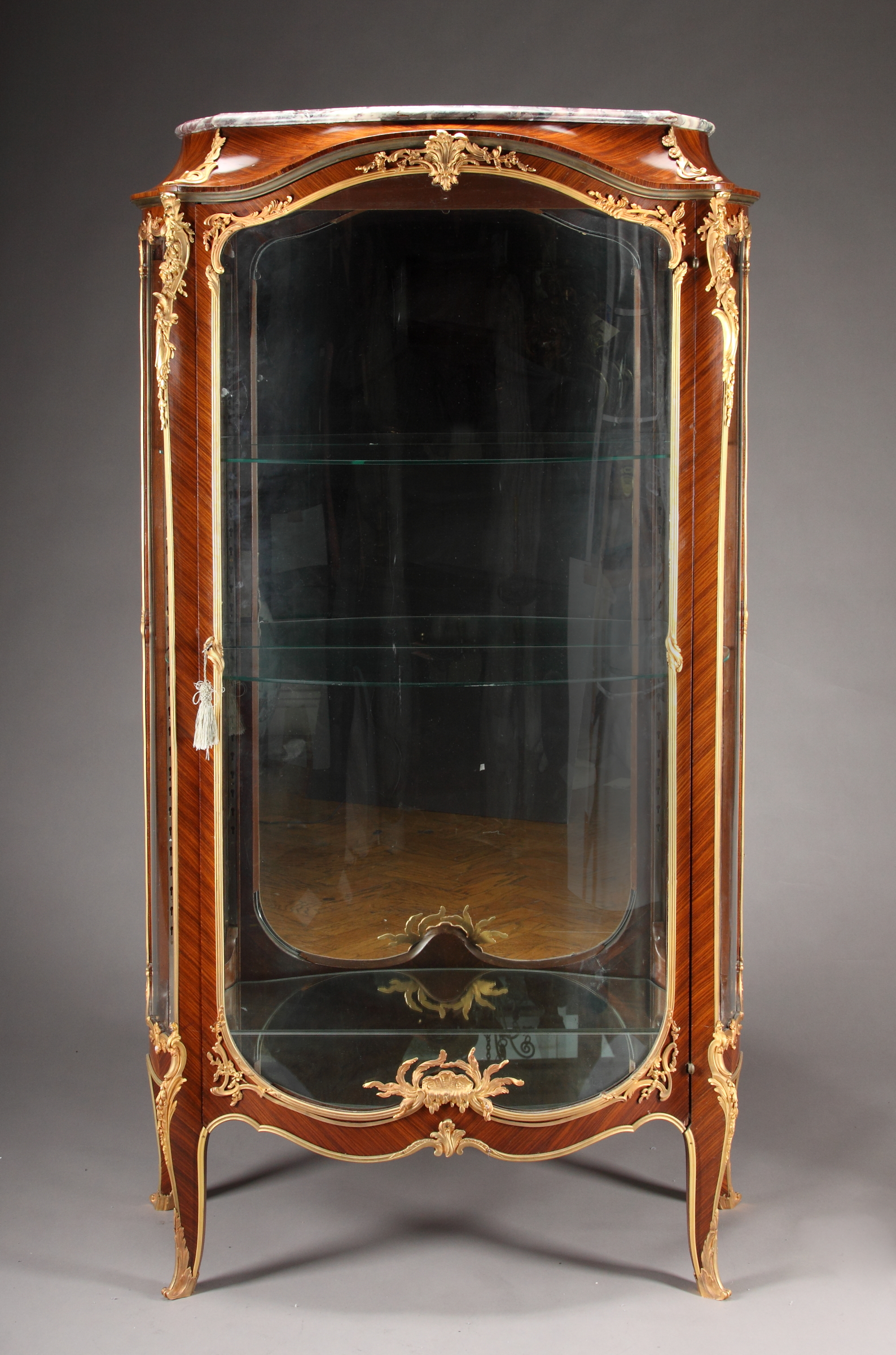 a 19th french ormolu mounted vitrine by francois linke for sale classifieds. Black Bedroom Furniture Sets. Home Design Ideas
