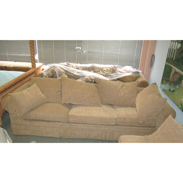 Large Down Filled 4-Piece Sectional Sofa - For Sale  sc 1 st  Antiques.com : down sectional sofa - Sectionals, Sofas & Couches