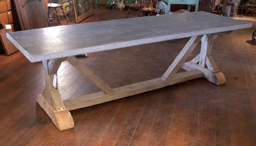 Marvelous Item # 019   7214 French Bluestone Table   For Sale