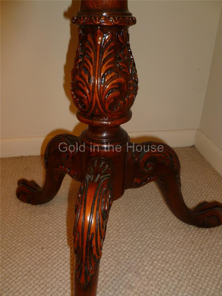 Beautiful Pedestal Piecrust Table Shell And Scroll With