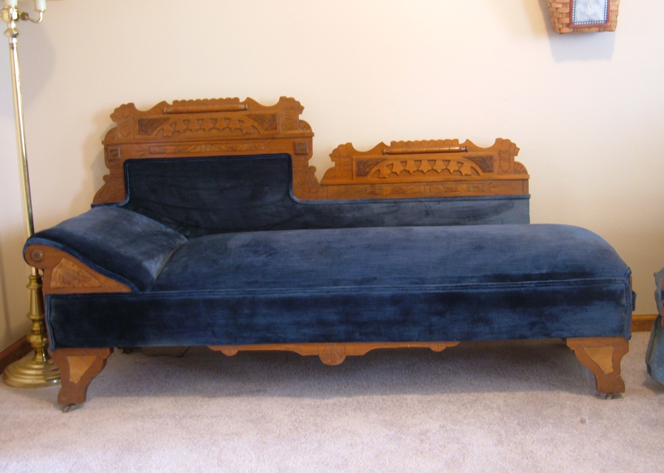 What We Have Is A Beautiful Professionally Refinished And Reapolstered Fainting Sofa Fold Out Couch Bed That Dates Back At Least To The Mid Late 1800 S